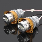10W 650lm 2-Cree XR E-Q5 White Light Angel Eyes Car Headlamp for BMW E90 / E91 (9~30V / 2 PCS)