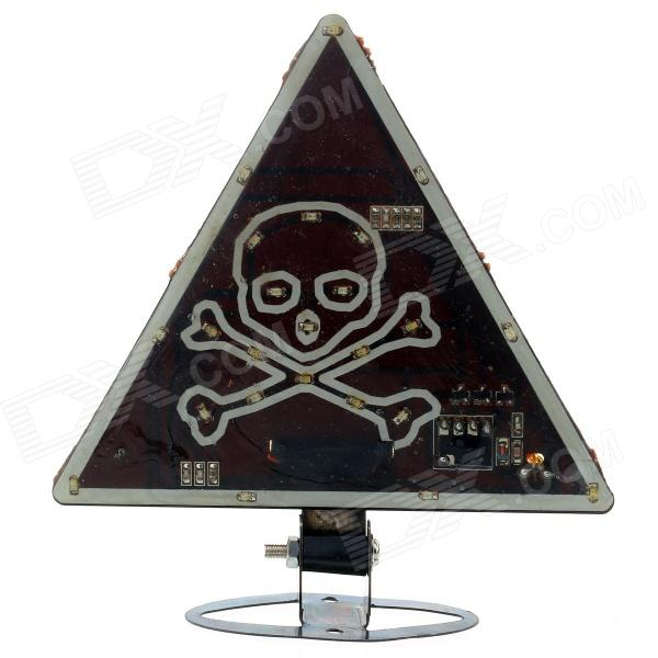 DIY Motorcycle Multi-Colored 38-LED Skull Style Triangle Tail Light (DC 12V)