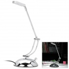 3W 6300K USB 3-LED White Light Eye-Protective Reading Lamp - White (AC 110~240V / 2-Flat-Pin Plug)