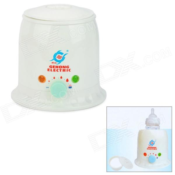 Baby Milk Warming Boiler w/ Bowl + Dust Cover - White (AC 220V / 2-Round-Pin Plug)