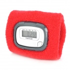 "1"" LCD Screen Display Pedometer Wrist Band - Silver + Red (1 x AG13)"