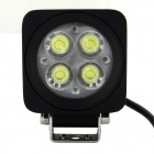 10W 650lm 4-LED White Light Car Headlamp - Black