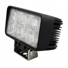 18W 1170lm 6-LED White Light Car Headlamp - Noir