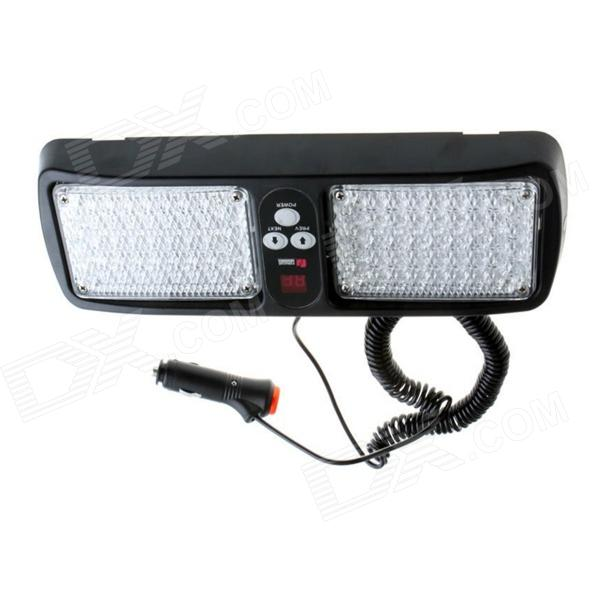 Ultra brillante 86-LED Rojo / Azul Car Light Truck Strobe Flash Visor Luz del panel