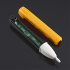 420006 90~1000V Voltage Alarm Tester Pen w/ LED Indicator - Yellow (2 x AAA)
