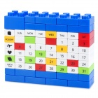 DIY Changing Environment Assembled Plastic Calendar - Blue