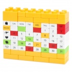 DIY Changing Environment Assembled Plastic Calendar - Yellow