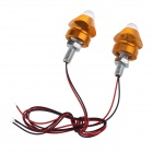 0.08W 5lm 1-LED RGB Decoration Light for Motorcycle DIY - Silver + Yellow (12V / 20cm / 2 PCS)