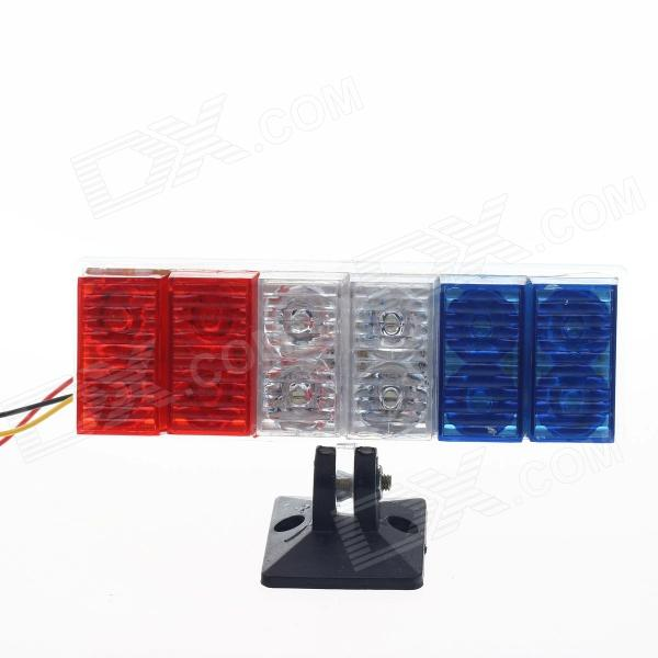0.08W 60lm 12-LED Blue + White + Red Tail Light for Motorcycle Decoration DIY (12V / 20cm) paired ol jt03 led automobile tail light