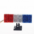 0.08W 60lm 12-LED Blue + White + Red Tail Light for Motorcycle Decoration DIY (12V / 20cm)
