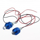 0.08W 5lm 1-LED RGB Decoration Light for Motorcycle DIY - Silver + Blue (12V / 20cm / 2 PCS)