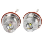 10W 750lm 1-LED White Angel Eyes Projector Headlamps for BMW 5 Series E39 / E60 + More (Pair)