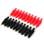 Test Alligator Clips Crocodile Clamp - Red + Black (10 Pairs)