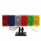 0.08W 12-LED Multi-Color Tail Light for Motorcycle Decoration DIY (12V)