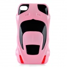 Sports Car Style Protective Plastic Back Case for Iphone 4 / 4S - Pink