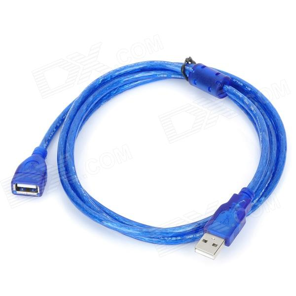 USB 2.0 Male to Female Data / Charging Cable - Deep Blue (150cm)