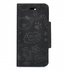 Protective PU Leather Case for Iphone 5 - Black