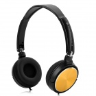 H1207004(EX-08) Headphone for Smart Phone / Computer - Black + Golden (3.5mm / 120cm)