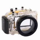 Meikon-35 Waterproof PC Camera Housing Case for Panasonic GF3 w/ 14mm Lens - Transparent + Black