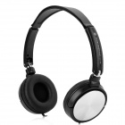 H1207001(EX-08) Headphone for Smart Phone / Computer - Black + Silver (3.5mm / 120cm)