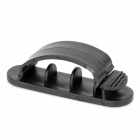 Computer Networking Wire Cord Cable Clip Organizer Kit - Black (10 PCS)