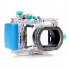 Meikon-27 Waterproof PC Camera Housing Case for Canon EOS S100 - Transparent + Blue