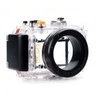 Meikon-33 Waterproof PC Camera Housing Case for Panasonic GF2 w/ 14mm Lens - Transparent + Black