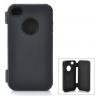 Protective Flip Open Soft Plastic Case for Iphone 4 / 4S - Black