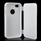 Protective Flip Open Soft Plastic Case for Iphone 4 / 4S - White