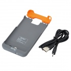 1200mAh External Backup Battery Charger Case for Samsung Galaxy S2 II / i9100 - Black + Orange