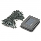 Solar Powered 2-Mode 100-RGB LED Decoration Light Strip - Deep Green (12m-Cable)