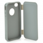 Protective Flip Open Soft Plastic Case for Iphone 4 / 4S - Light Grey