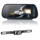 "7"" LCD Car Rearview Mirror Monitor + 2.4GHz Wireless Camera Kit w/ 7-LED Night Version - Black"