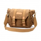 CADEN F1 Retro Canvas Lässige One Shoulder Bag für DSLR - Coffee