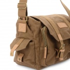 CADEN F1 Retro Canvas Casual One Shoulder Bag for DSLR - Coffee