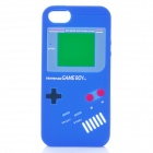 Protective Nintendo Game Boy Style Silicone Back Case for iPhone 5 - Blue
