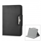 Lychee Pattern Protective PU Leather Case for Samsung Galaxy Note N8000 - Black