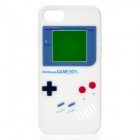 Protective Nintendo Game Boy Stil Silikon zurück Fall für iPhone 5 - White