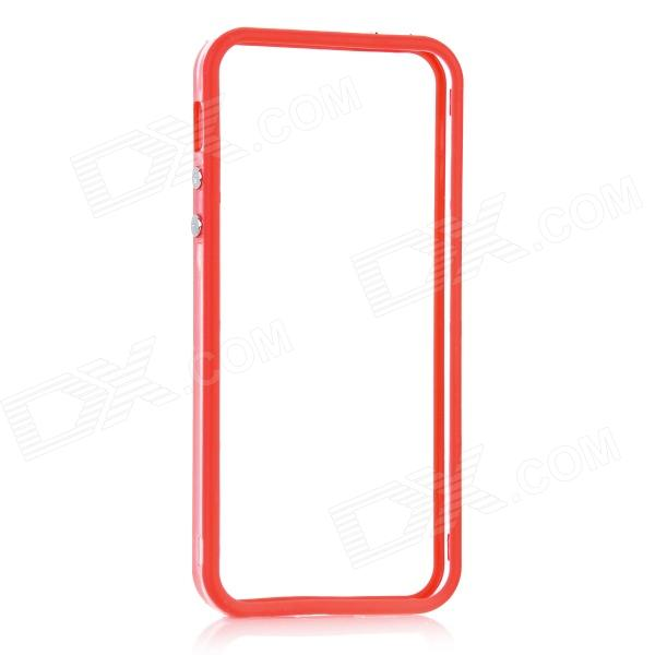Protective Bumper Frame for Iphone 5 - Transparent + Red protective aluminum alloy bumper frame case for iphone 5 5s golden