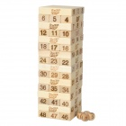 Wooden Number Building Blocks Jenga Toy Set for Child