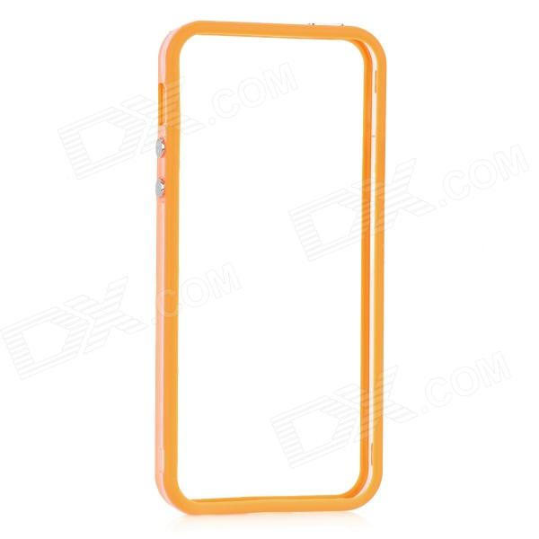 Protective Bumper Frame for Iphone 5 - Transparent + Orange protective aluminum alloy bumper frame case for iphone 5 5s golden