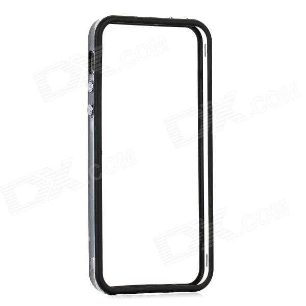 Protective ABS Frame Case for Iphone 5 - Transparent + Black