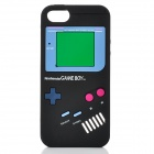 Protective Nintendo Game Boy Style Silicone Back Case for iPhone 5 - Black