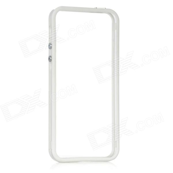 Protective ABS Frame Case for Iphone 5 - Transparent + White