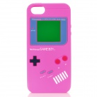 Protective Nintendo Game Boy Style Silicone Back Case for iPhone 5 - Deep Pink