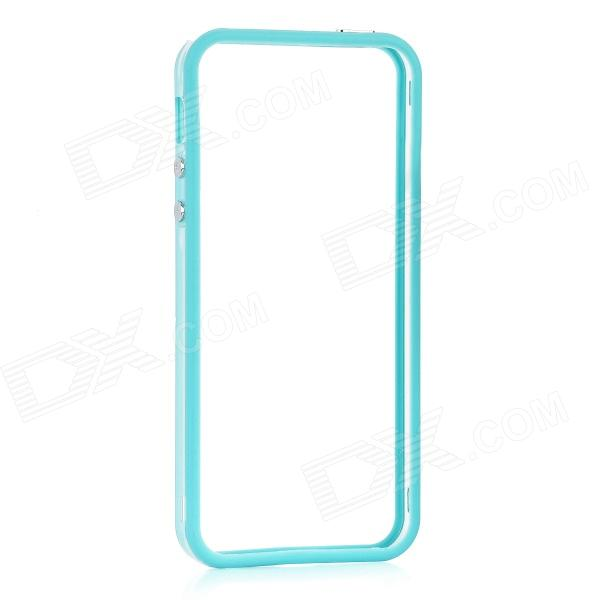 Protective Bumper Frame for Iphone 5 - Transparent + Blue