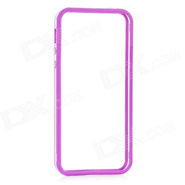 Protective Bumper Frame for Iphone 5 - Transparent + Purple