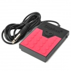 Daphon DF1778 Electronic Keyboard Sustain Damper Pedal - Red + Black (6.35mm Plug / 225cm-Cable)