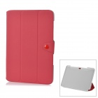 "Protective PU Leather Case for Samsung Galaxy Note 10.1"" N8000 - Red"