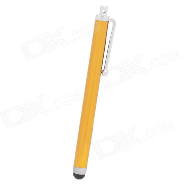 Aluminum Alloy Touchpad Stylus Pen for Ipad / Iphone / Samsung P6200 + More - Golden